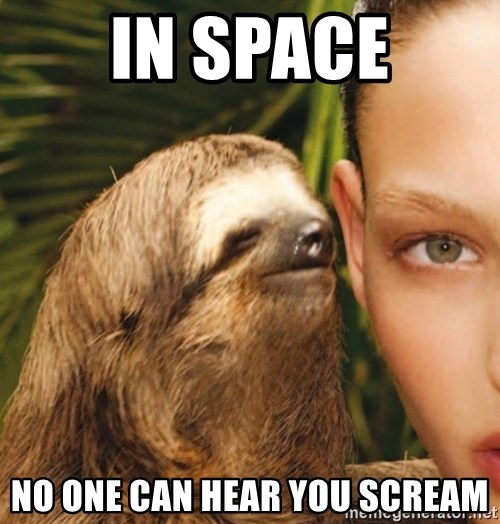The Rape Sloth - In space No one can hear you scream
