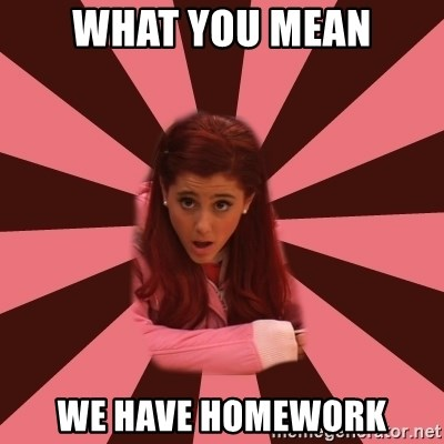 Ariana Grande - WHAT YOU MEAN WE HAVE HOMEWORK