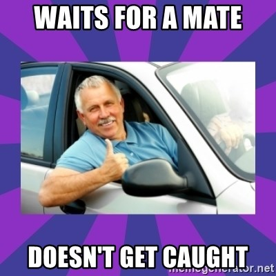 Perfect Driver - WAITS FOR A MATE  DOESN'T GET CAUGHT