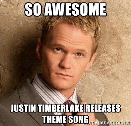 BARNEYxSTINSON - So Awesome Justin Timberlake releases Theme song