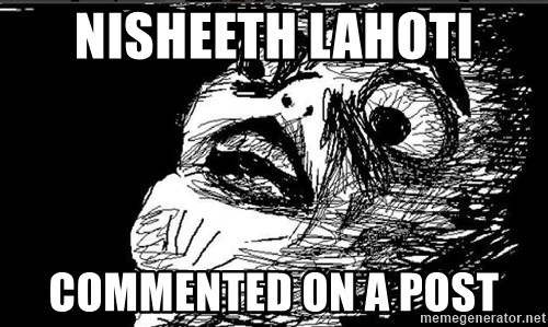 Extreme Rage Face - nisheeth lahoti commented on a post