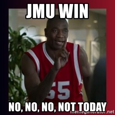 Dikembe Mutombo - JMU Win NO, NO, NO, Not Today