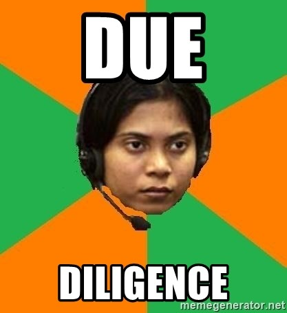 Stereotypical Indian Telemarketer - Due Diligence