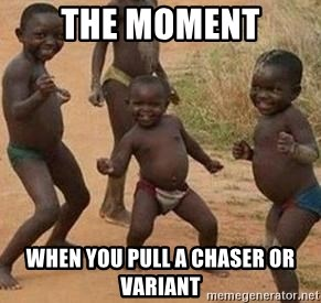 african children dancing - the moment when you pull a chaser or variant