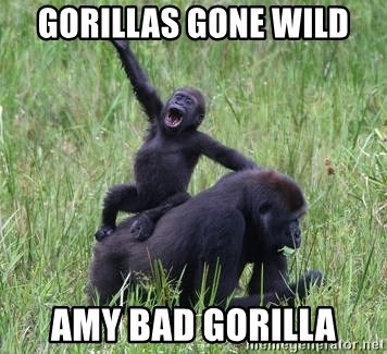 Happy Gorilla - Gorillas gone wild Amy bad gorIlla