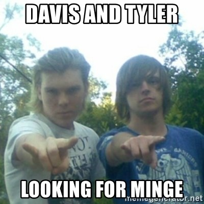 god of punk rock - DAVIS AND TYLER  LOOKING FOR MINGE
