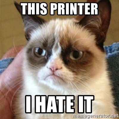 Grumpy Cat  - This printer i hate it