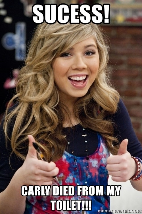 sucess sam puckett - Sucess! Carly Died From My Toilet!!!