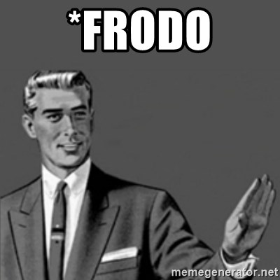 Correction Guy - *Frodo
