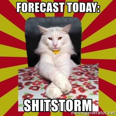 Dictator Cat - forecast today: shitstorm