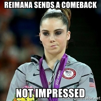Not Impressed McKayla - Reimana sends a comeback Not impressed