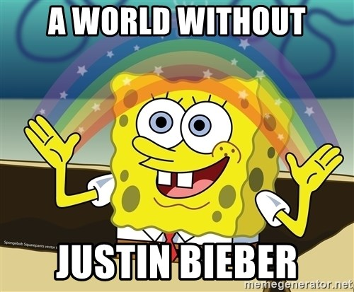 spongebob rainbow - a world without justin bieber