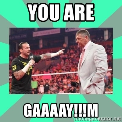 CM Punk Apologize! - YOU ARE GAAAAY!!!M