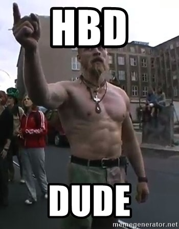 Techno Viking - HBD Dude