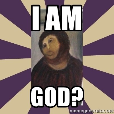 Retouched Ecce Homo - I AM GOD?