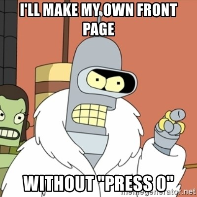 """bender blackjack and hookers - I'LL MAKE MY OWN FRONT PAGE WITHOUT """"PRESS 0"""""""