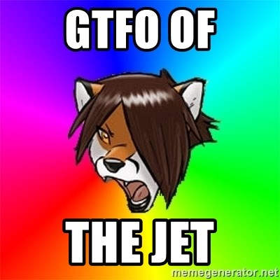 Advice Furry - GTFO of the jet