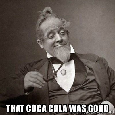 1889 [10] guy -  that coca COLA WAS GOOD