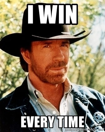Brutal Chuck Norris - I win Every time