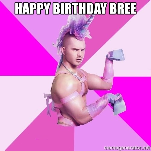 Unicorn Boy - Happy birthday bree