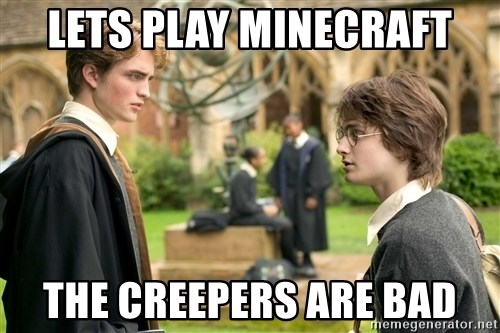 Harry Potter  - lets play minecraft the creepers are bad