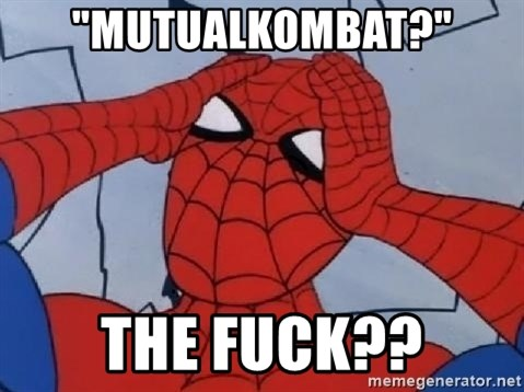 "Spider Man - ""mutualkombat?"" the fuck??"