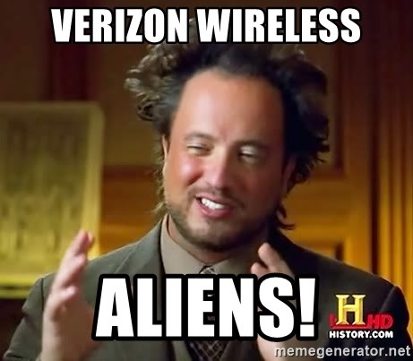 Ancient Aliens - verizon wireless aliens!