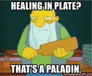Thats a paddlin - healing in plate? That's a Paladin.