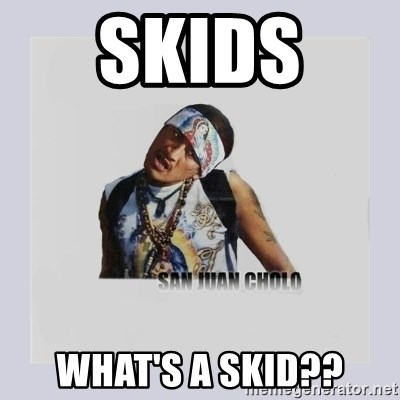 san juan cholo - SKIDS  WHAT'S A SKID??