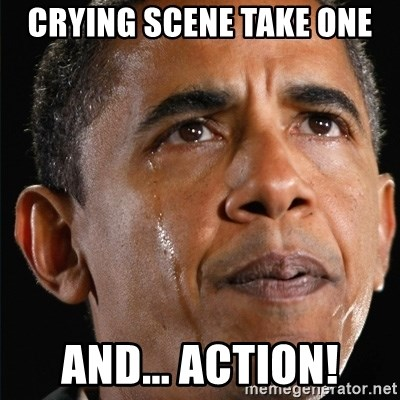 Obama Crying - crying scene take one and... action!
