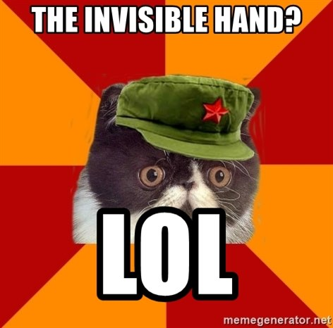 Communist Cat - THE INVISIBLE HAND? LOL