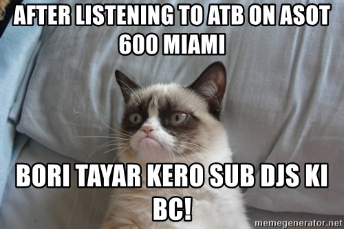 Grumpy cat good - AFTER LISTENING TO ATB ON ASOT 600 MIAMI Bori TAYAR KERO SUB DJs KI BC!