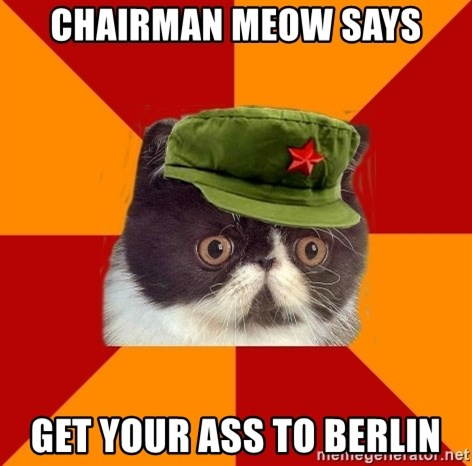 Communist Cat - Chairman meow says get your ass to berlin