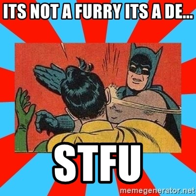 Batman Bitchslap - its not a furry its a de... STFU