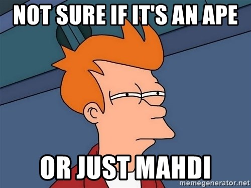 Futurama Fry - NOT SURE IF IT'S AN APE OR JUST MAHDI