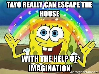 Imagination - tayo really can escape the house with the help of imagination