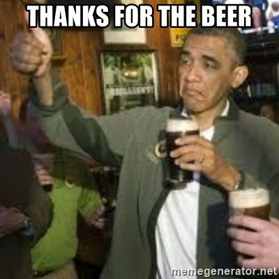 obama beer - thanks for the beer