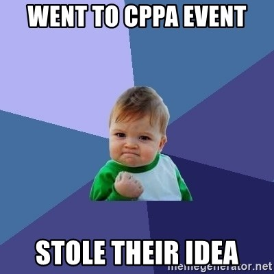 Success Kid - went to cppa event stole their idea
