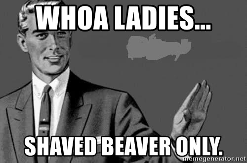 Correction Man  - WHOA LADIES... SHAVED BEAVER ONLY.