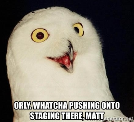 Orly Owl -  orly. whatcha pushing onto staging there, matt