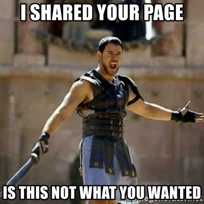 GLADIATOR - I shared your page is this not what you wanted