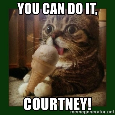 lil bub - You can do it, Courtney!