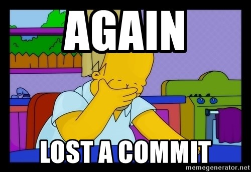 Homer Facepalm - AGAIN LOST A COMMIT