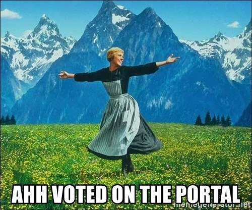 Look at all the things -  Ahh voted on the portal