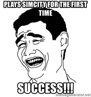 Asian Troll Face - Plays simcity for the first time success!!!