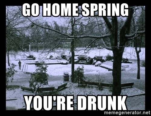 UVIC SNOWDAY - Go home spring You're drunk
