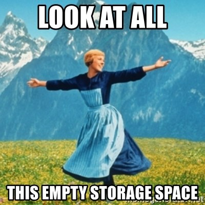Sound Of Music Lady - Look at all this empty storage space