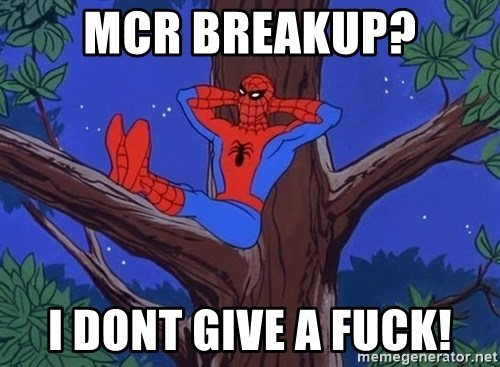 Spiderman Tree - mcr breakup? i dont give a fuck!