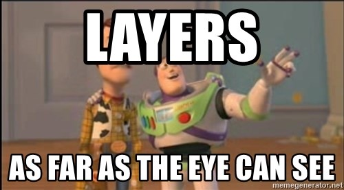 X, X Everywhere  - Layers as far as the eye can see