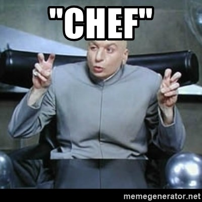 "dr. evil quotation marks - ""Chef"""